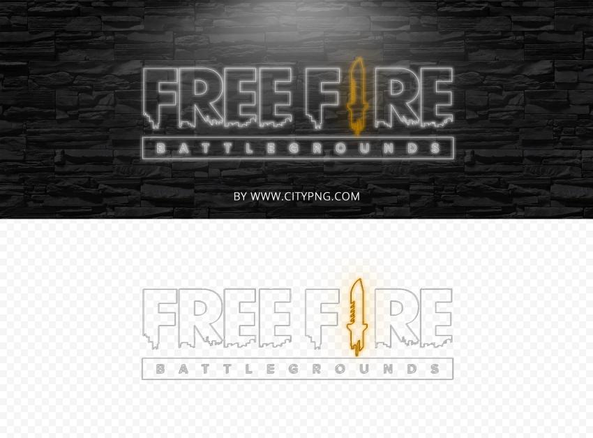 Hd Neon Free Fire Logo Battlegrounds Png In 2021 Logos Png Neon