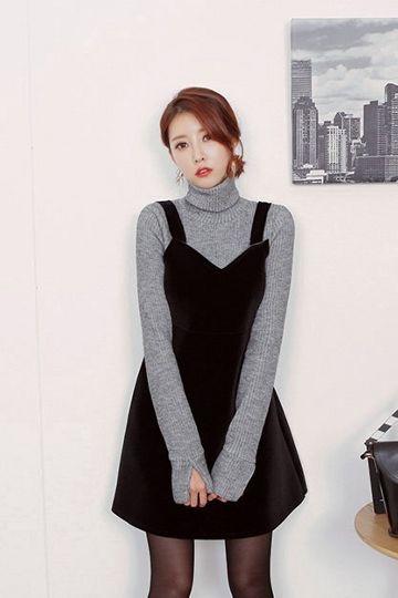 Delight Velvet Dress | Korean Fashion