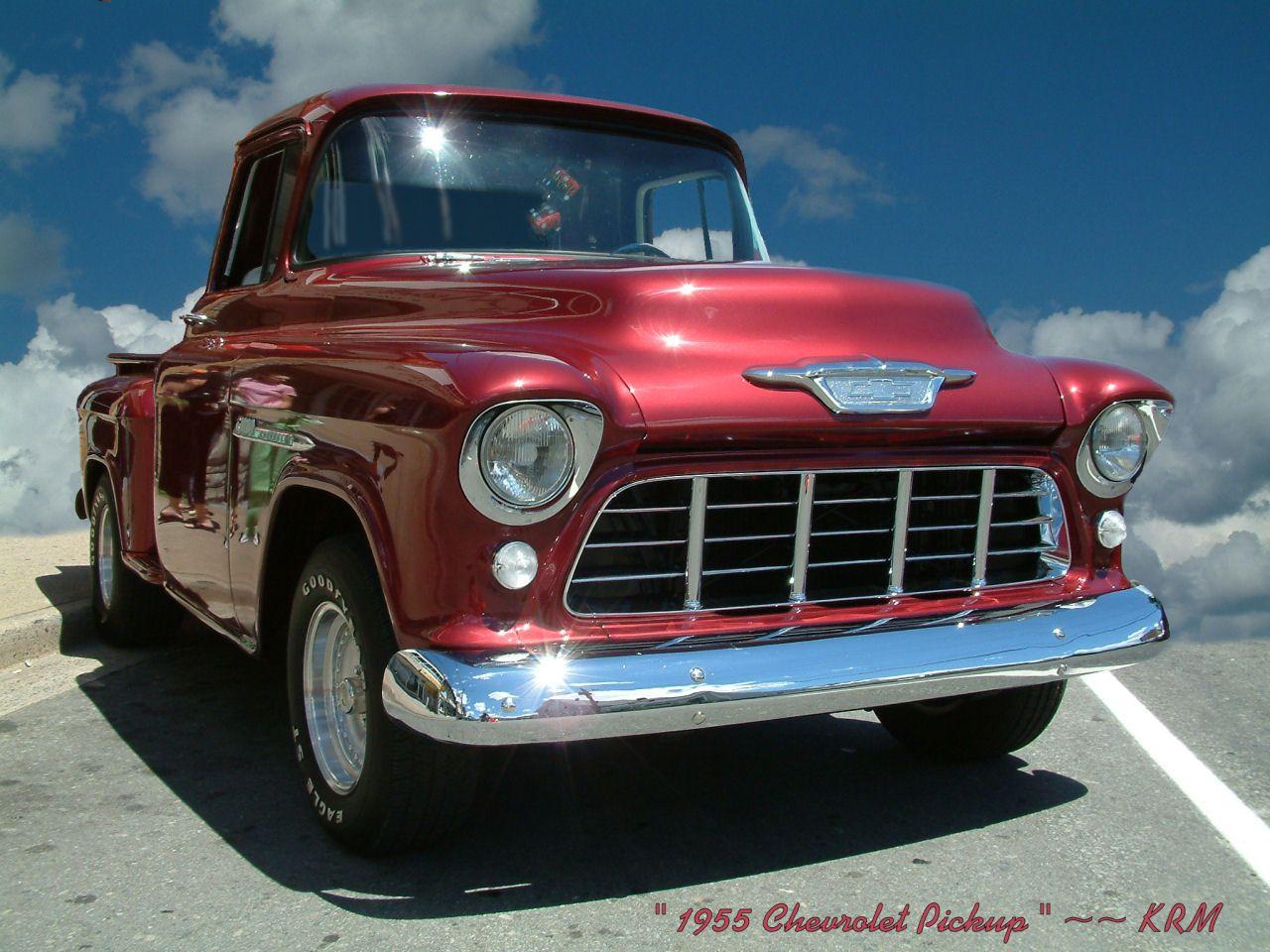 1955 Chevrolet Pickup Transport Wallpaper Image Featuring Cars Chevy Trucks Chevrolet Pickup Chevrolet Trucks