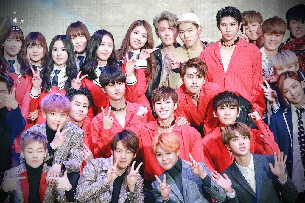 With Exo Vixx Seventeen Bts Ikon Zico Gfriend Ikon Leader Vixx