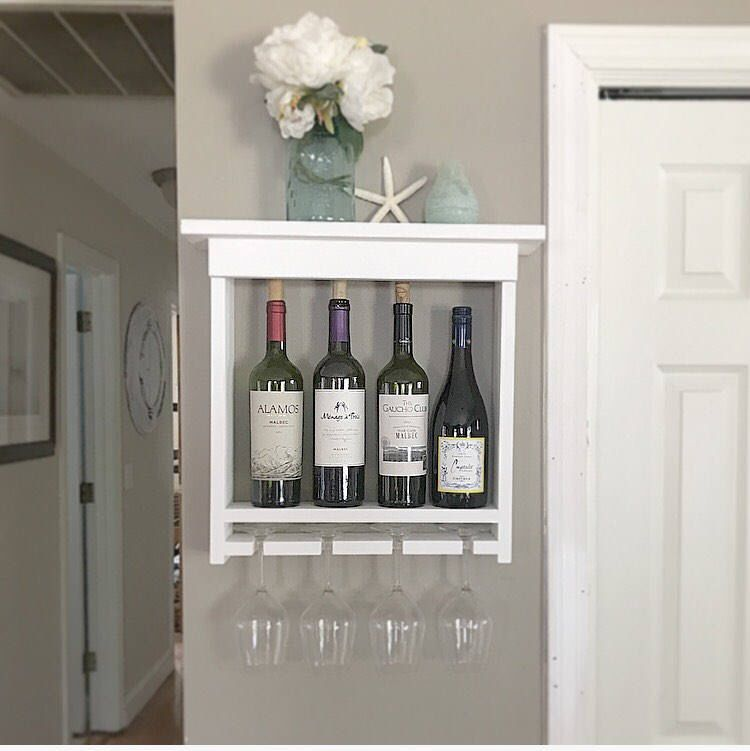 handmade wine rack, gift for mom