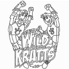 Wild Kratts Coloring Pages Free Printable Wild kratts and