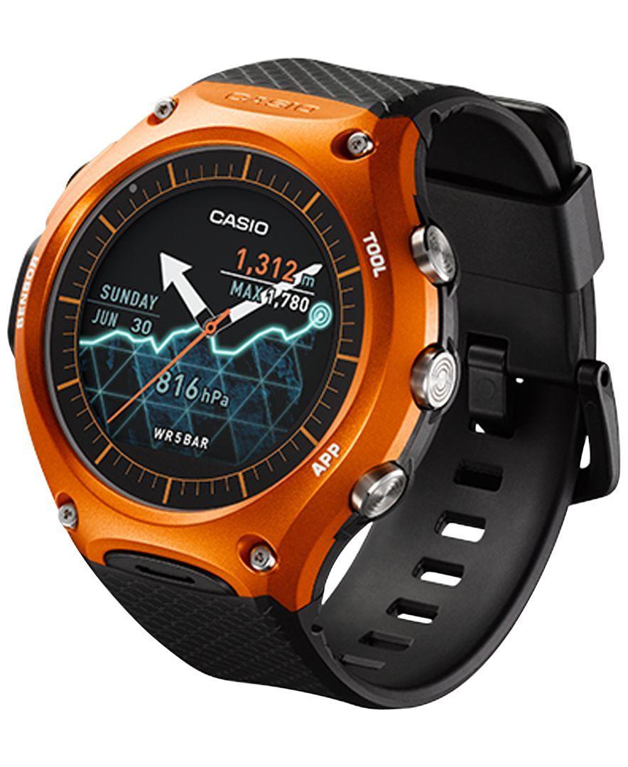 Casio Unisex Outdoor Black Resin Strap Smartwatch 62x56mm Wsd-F10RG