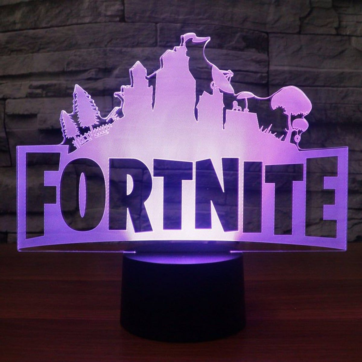 Fortnite 3d Lamp In 2020 Game Room Kids Led Night Light Boy Bedroom Design