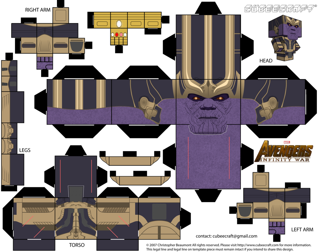 Thanos Cubeecraft by JagaMen | cubeecraft | Paper Crafts ... - photo#28