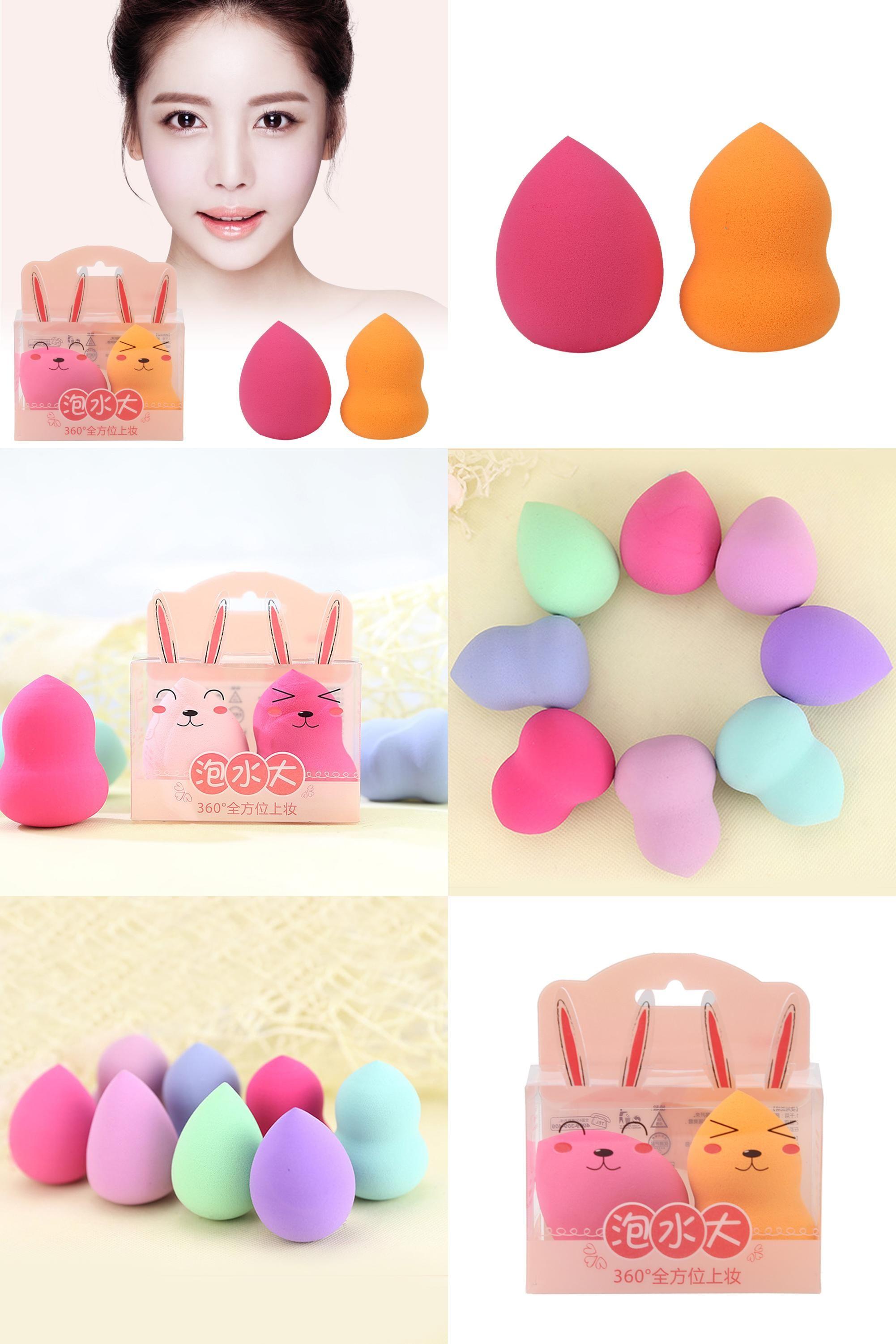 [Visit to Buy] 2pcs Makeup Sponge Cosmetics Puff Flawless