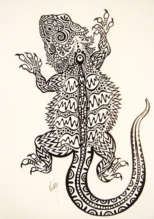 Bearded dragon tattoo   Tattoo\'s   Pinterest   Tatuajes, Dragones y ...