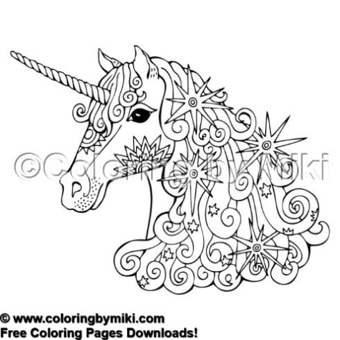 Sparkly Unicorn Coloring Page 2192 Unicorn Coloring Pages Fantasy Horses Horse Coloring Pages