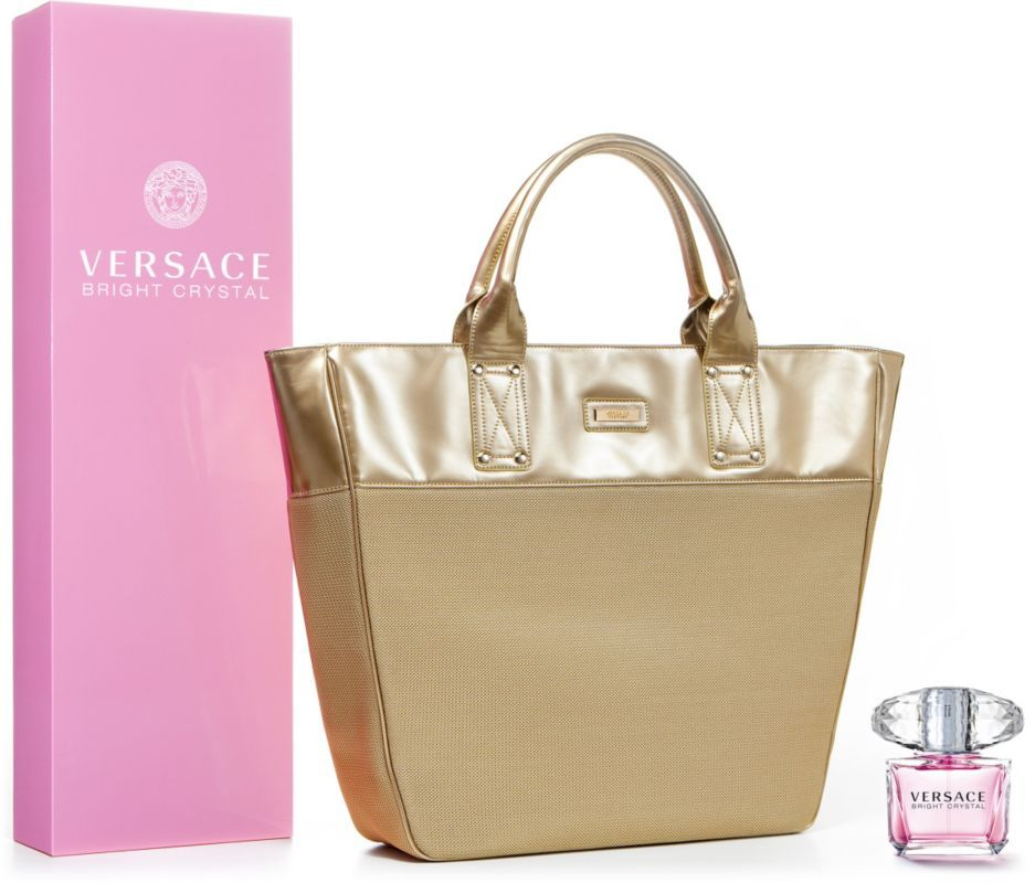 Bright crystal gift set by versace includes eau de