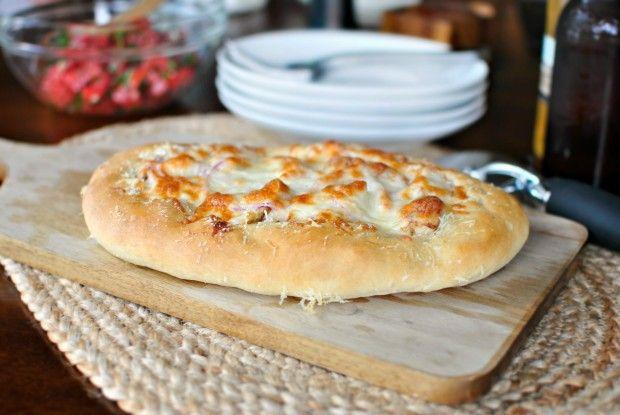Grilled Chicken with Tomato Basil Bruschetta Pizza
