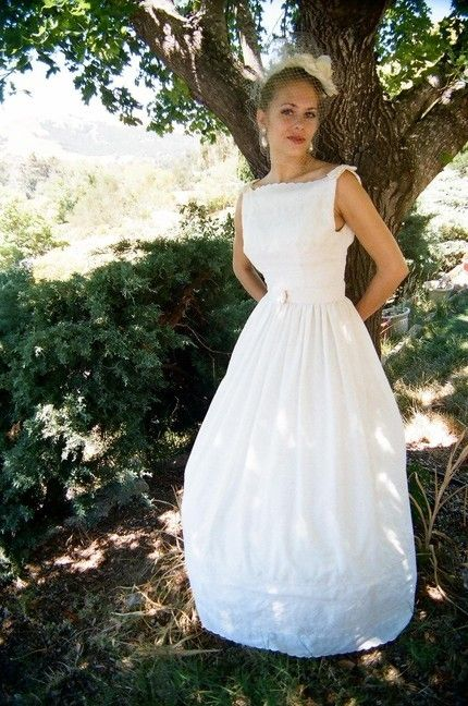 Imported Cotton Tea Dyed Eyelet Wedding Dress Has A Bouffant Shape Structured By Separate Layered Crinoline Petticoat Lined In Muslin