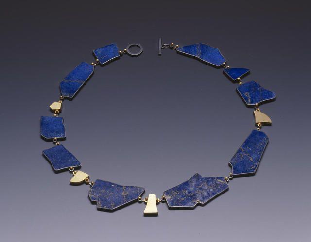 Suzan rezac necklace lapis lazuli 18k gold oxidized silver necklace lapis lazuli 18k gold oxidized silver mozeypictures Images