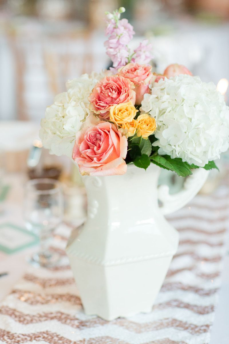 Mint Charlotte Art Gallery Wedding | Spring wedding centerpieces ...