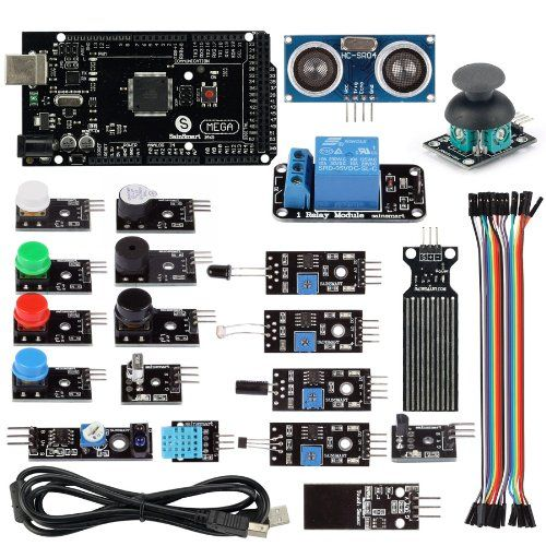 SainSmart 20 Sensor Modules Mega2560 R3 Education Starter Kit with 1