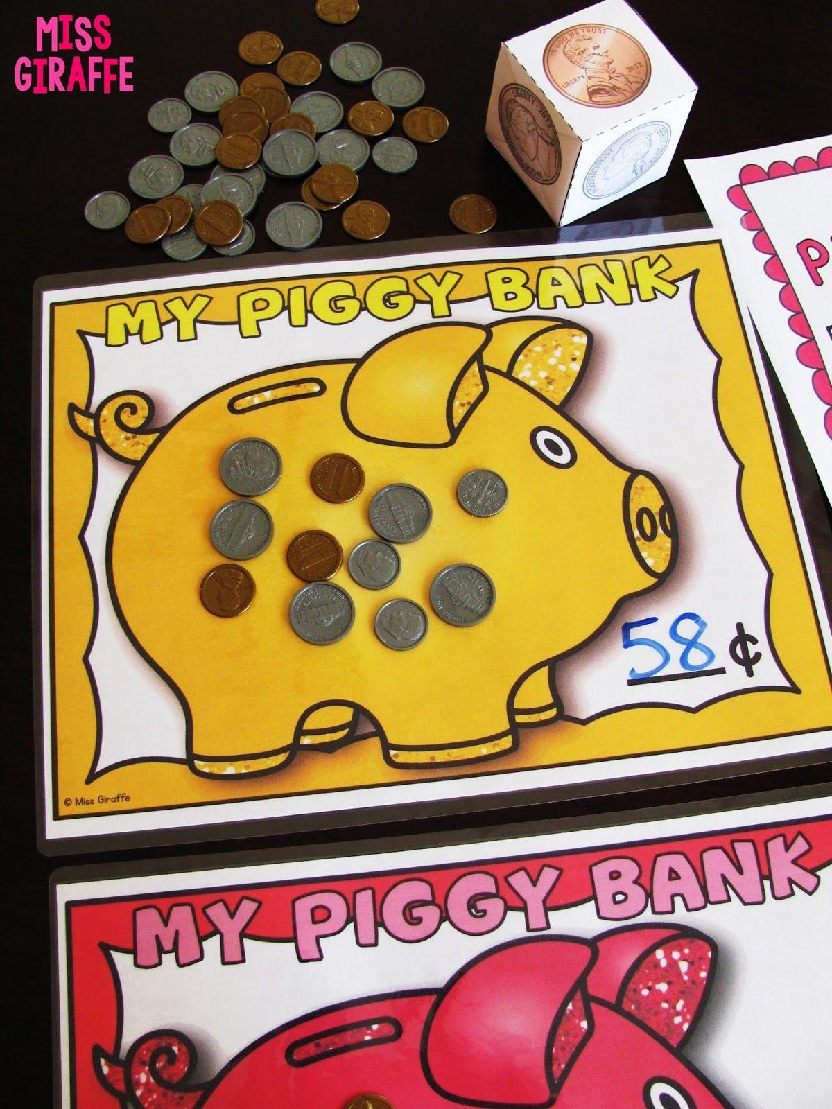 Adding Mixed Coins Center Piggy Banks 282 29 1 200
