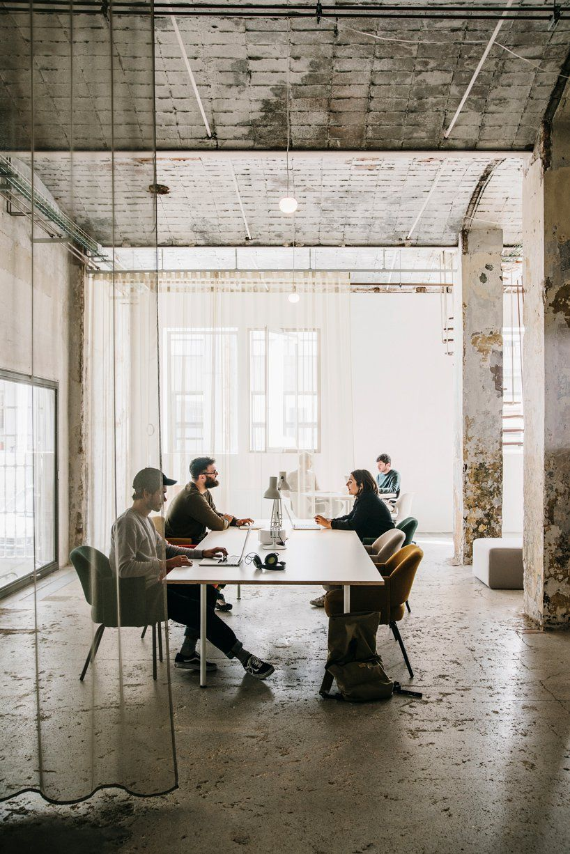 Industrial Barcelona Warehouse Transformed To Coworking Space