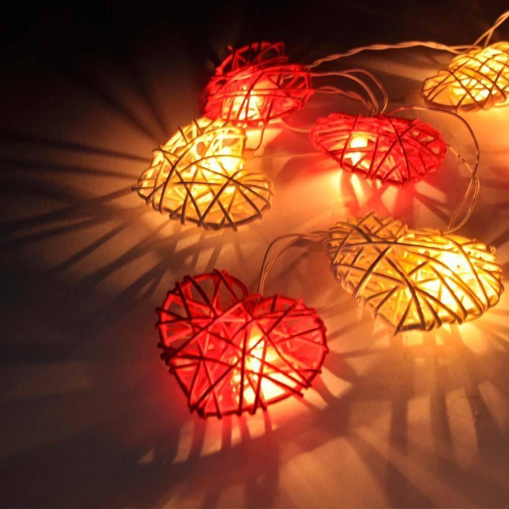 LED Love Heart String Fairy Light Christmas Party Wedding Home Decor Lamp