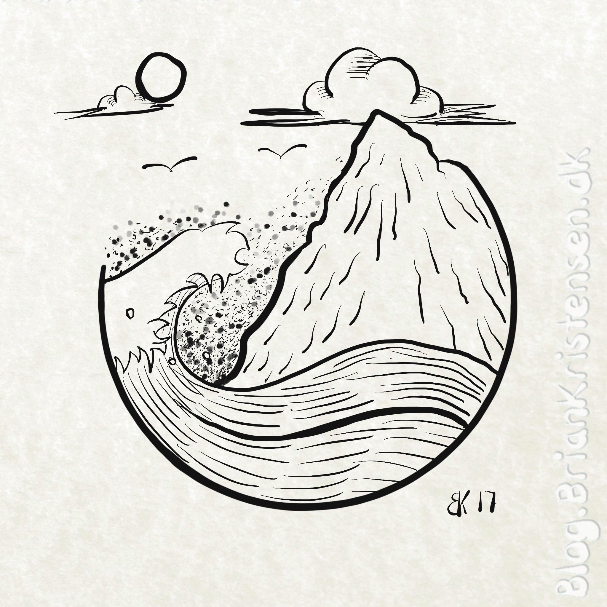 It is a graphic of Insane Ocean Scene Drawing