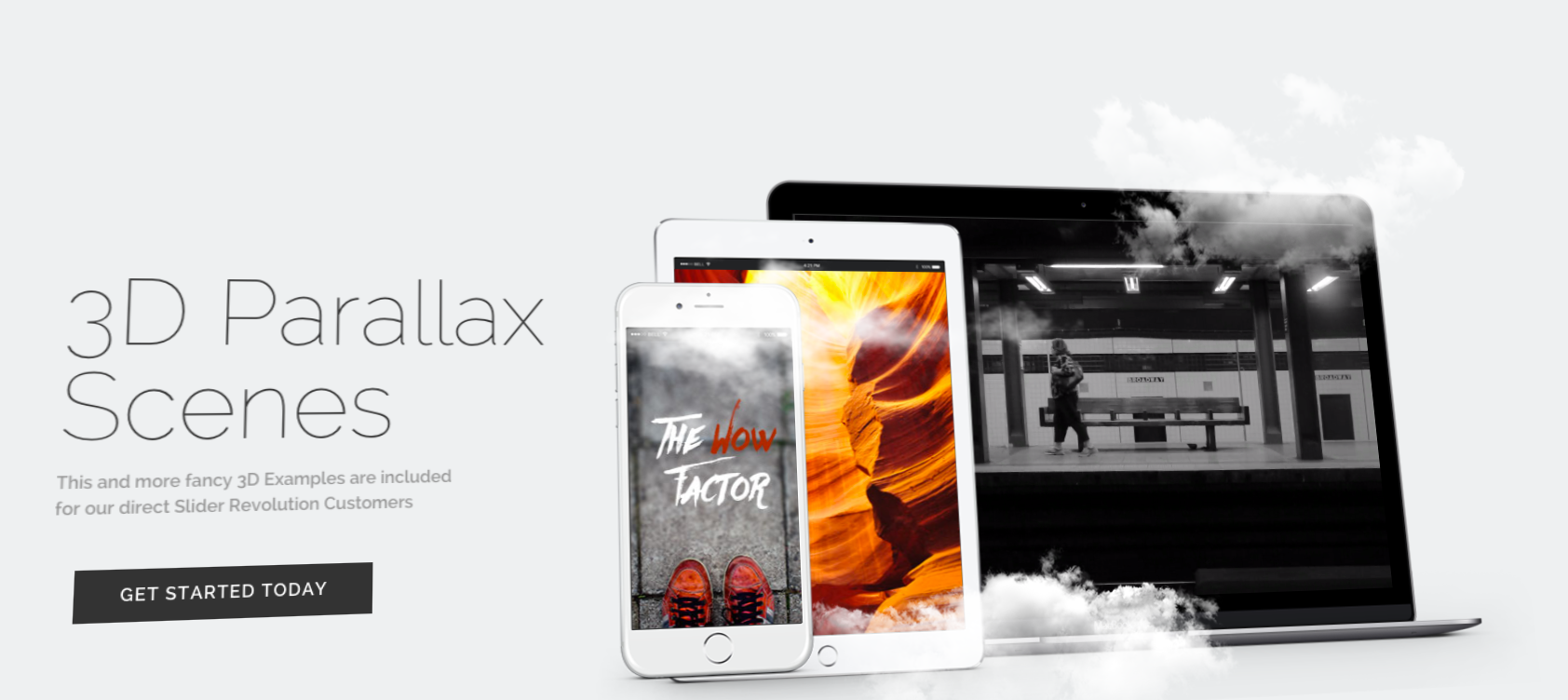 3D Parallax Scenes - You can download this slider template