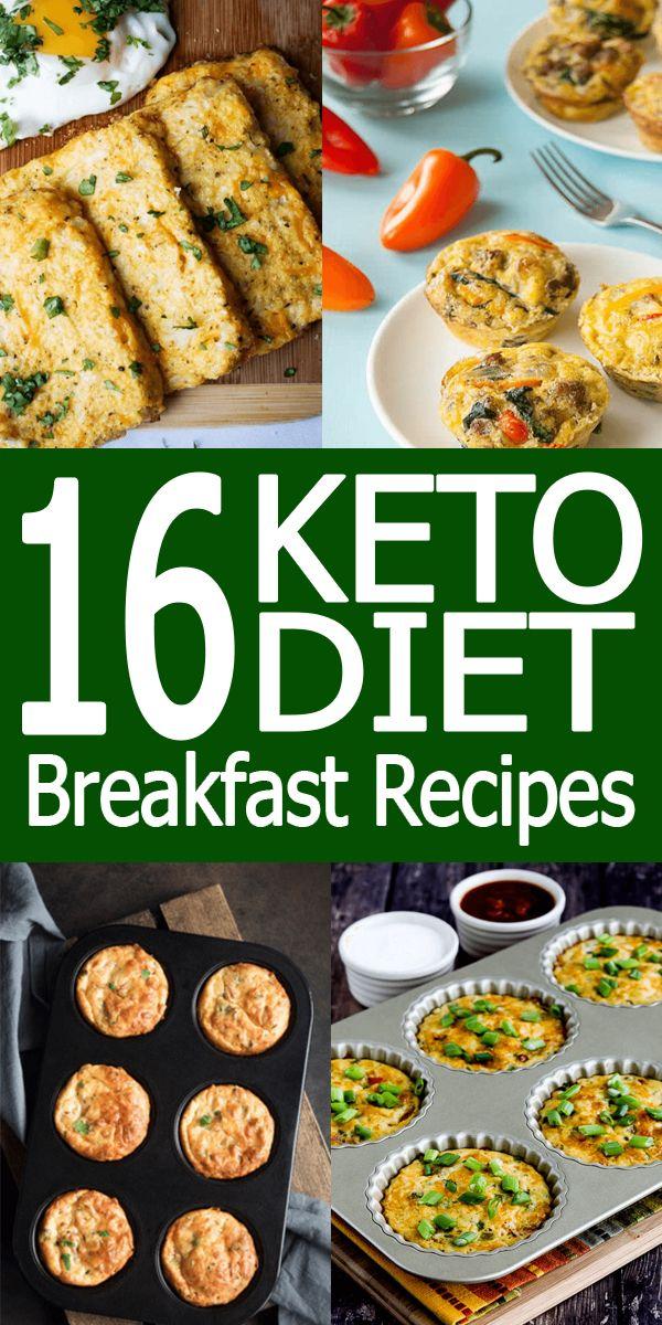 16 Keto Diet Breakfast Recipes / Keto Diet / Keto Diet Recipes / Ketogenic / Ketogenic Recipes  #ketodietforbeginners