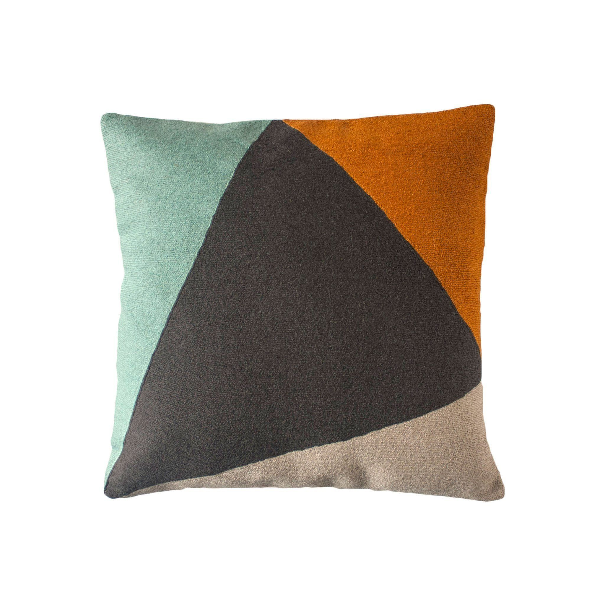Leah Singh Phoenix Colorblock Pillow - Gray