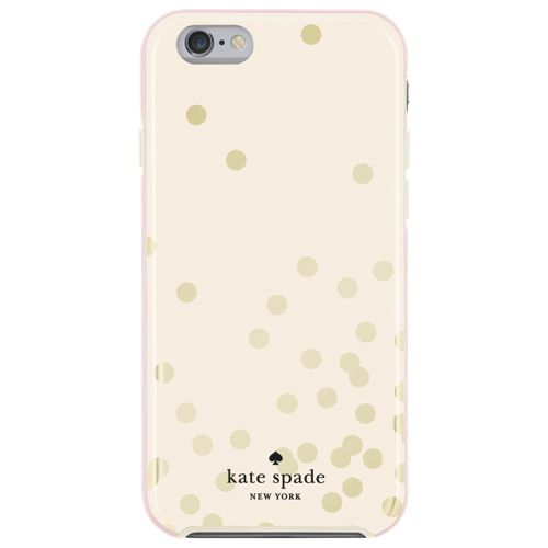 kate spade new york Confetti iPhone 6/6s Fitted Hard Shell Case - Cream/Gold  - Only at Best Buy | Gold and Lima