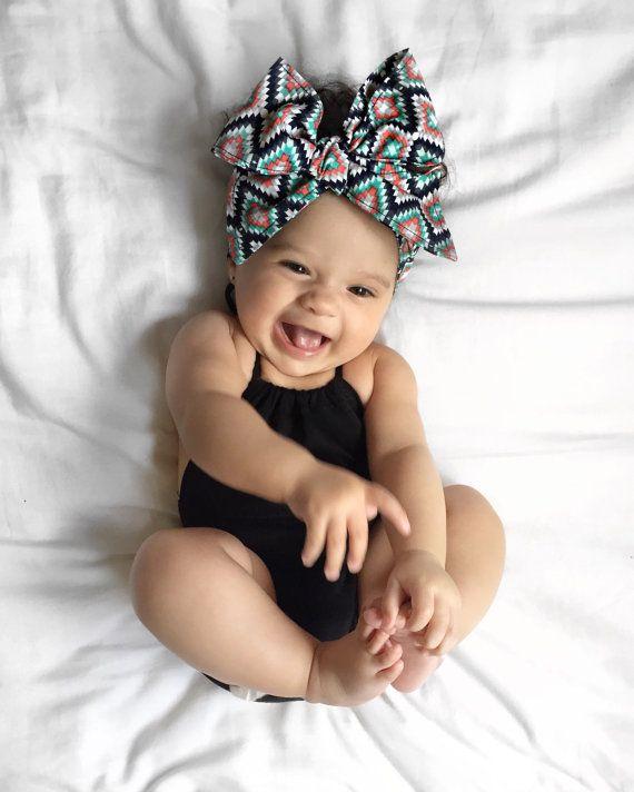 Headwrap   baby bows   baby girl headwrap   baby girl headbands   baby girl  bows   headbands   baby girl gift   hair bows   tribal headwrap df760f703c5