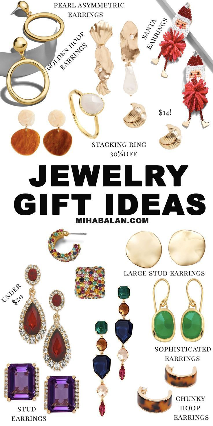 Stuck on what to get to your mother, sister, friend or girlfriend this holiday season? Check out this selection of jewelry gift ideas, Statement Earrings,Stuf Earrings,Cyber Week Gift Guide Ideas, Black Friday jewelry gift guide #jewelry #earrings #accessoriesjewelry #christmasgifts #giftguide #cyberweek #blackfriday #blackfriday2018 #blackfridaydeals