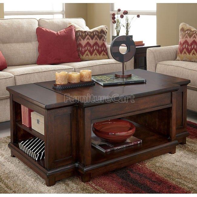 Hodgenville Lift Top Cocktail Table Signature Design | Furniture Cart