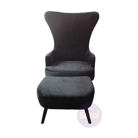 replica tom dixon wingback chair ottoman suede furniture