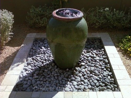 Simple Vase Fountain Landscaping Gardening Ideas