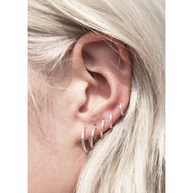 Fashionology Tiny Hoop Earrings Set 5 Pair