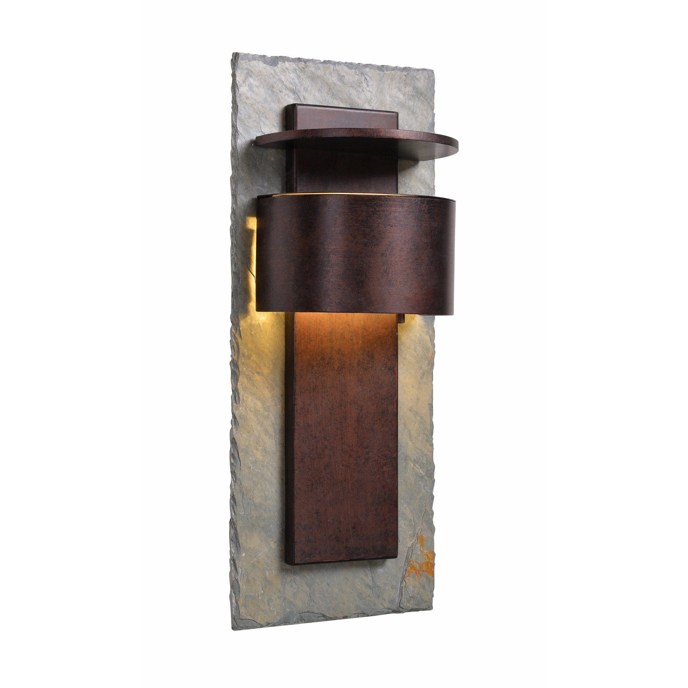 Darius 24 Dark Sky Led Wall Lantern Slate And Copper Multicolor Design Craft Kenroy Home Outdoor Wall Lantern Outdoor Walls