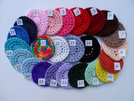 Small Bun Cover, Bun Holder, Crocheted Bun Cover, Bun Net, Snood ...