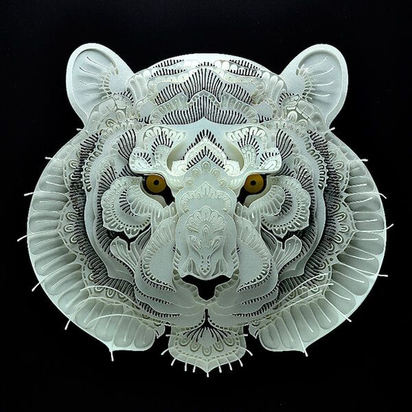 Intricately 3D Paper Cut by Patrick Cabral
