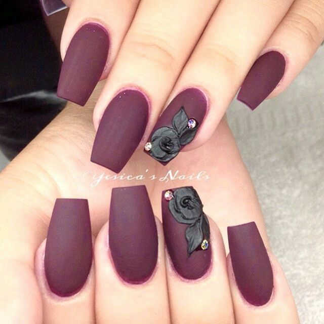 Top 3D 55 Gel Nail Design 2018 | Nail Art | Pinterest | Maroon nails ...
