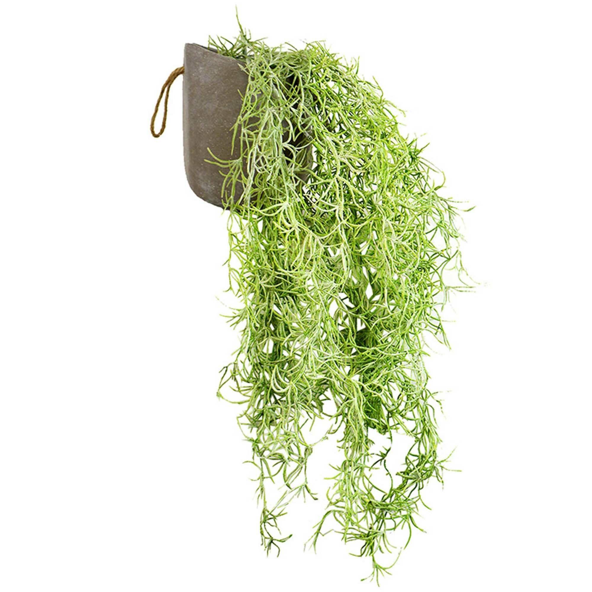 78cm hanging potted faux asparagus fern plant temple