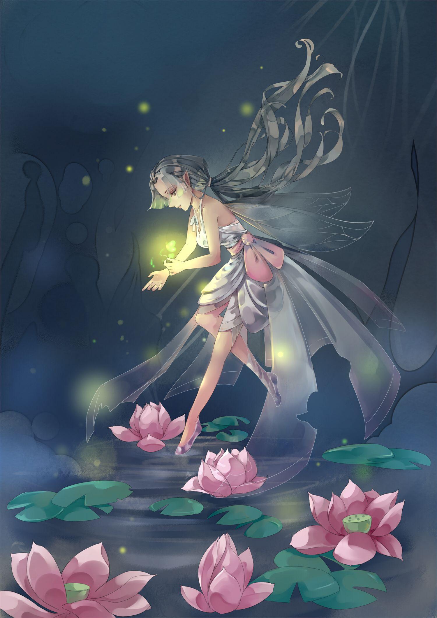 精灵 By 逸雪遥梦涟又 Art, Fantasy art, Anime