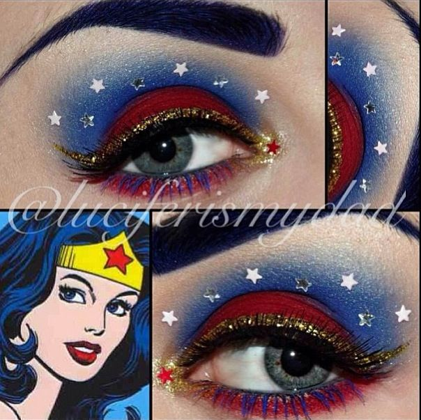 Wonder Woman Eye Make Up