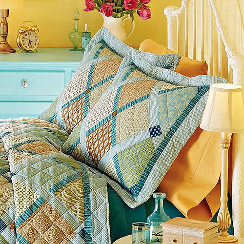 19.97-FULL / QUEEN Better Homes and Gardens Four-Patch Quilt Sham ...