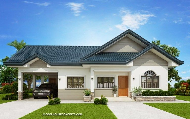 Home Design Plan 19x15m With 3 Bedrooms Home Design With Plan Modern Bungalow House Beautiful House Plans Three Bedroom House