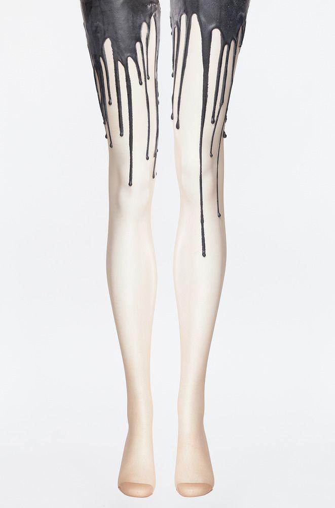 beb75da0b6a0e Black Melt Melting Tights — URB | Cool in 2019 | Fashion tights ...