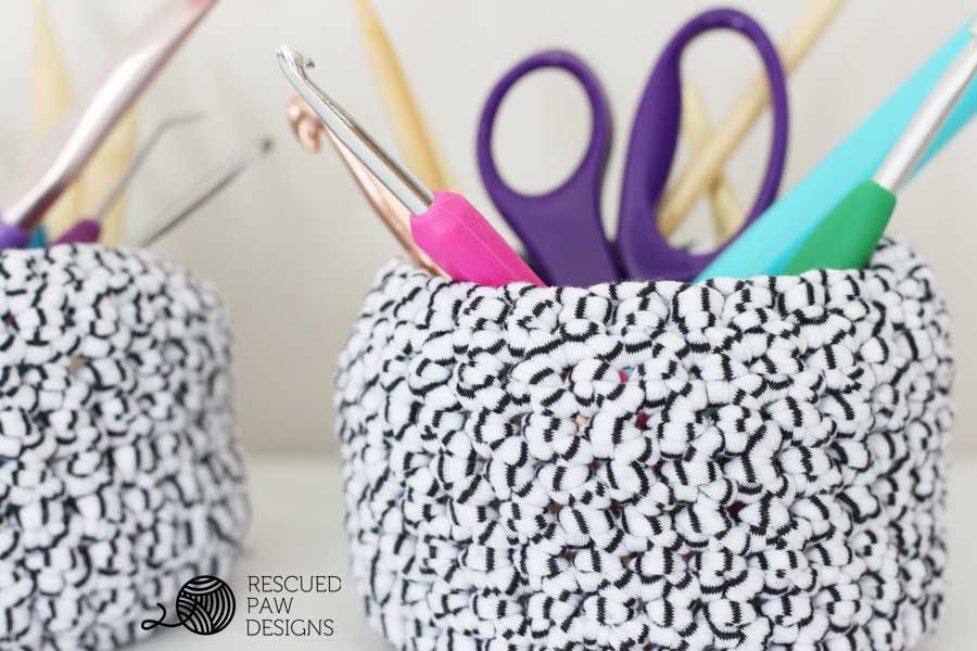 Mini Basket Crochet Pattern | Trapillo