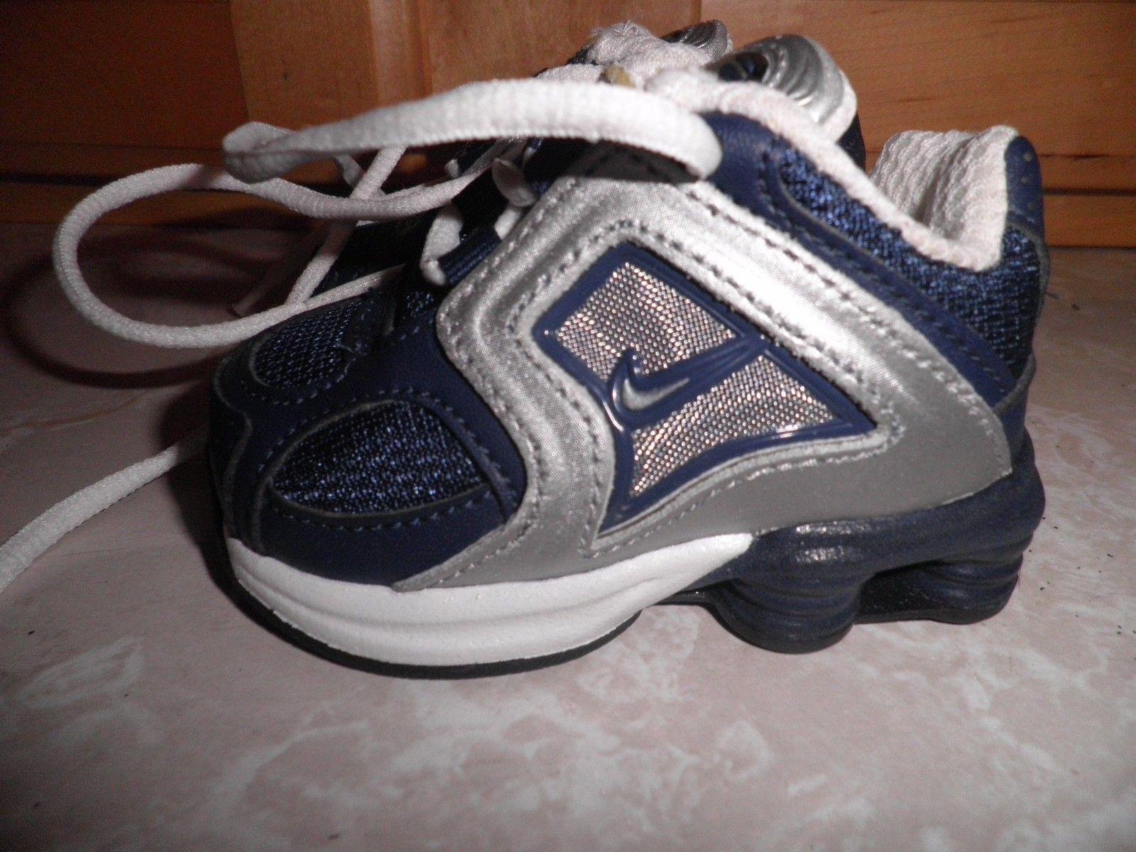 Nike Baby Shox Blue Silver Size 2c | eBay