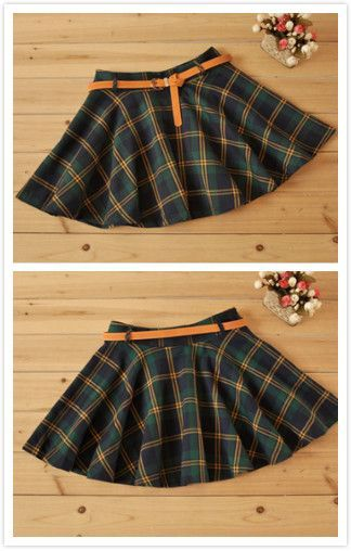 Cute sweet college wind plaid skirt Cute Kawaii Harajuku Fashion - clothing sponsorship