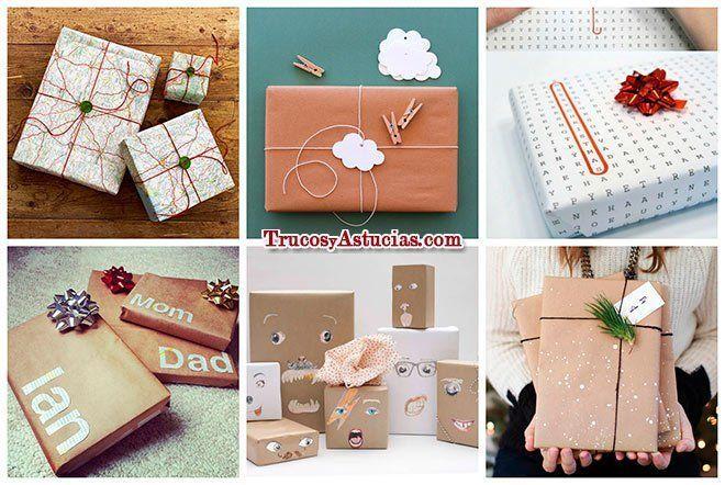 ideas para envolver regalos de forma original ideas Pinterest