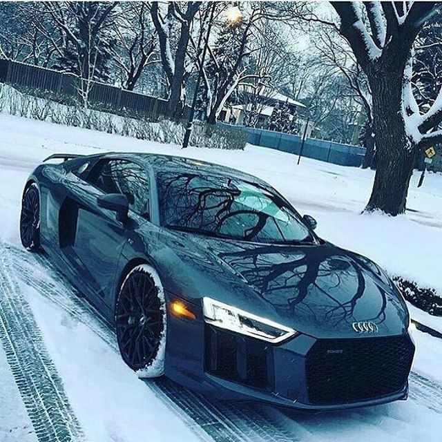 Would You Drive This R8 In The Snow? Via @royalwhips