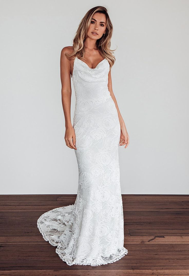 Honey rose gown lace wedding dress in 2020 wedding