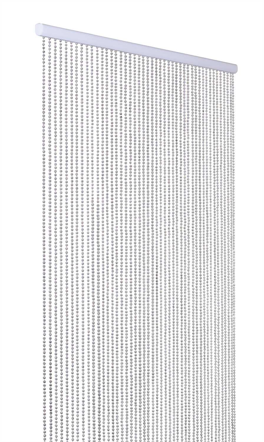 45 Strands Of Silver Balls Make Up This Fun Beaded Curtain You