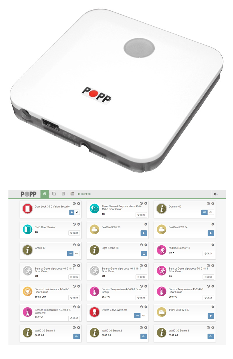 Smart Home Funk popp hub die neue smarthome zentrale z wave gateway popp